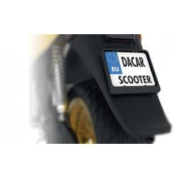 Ramka tablicy rejestracyjnej czarna skuter