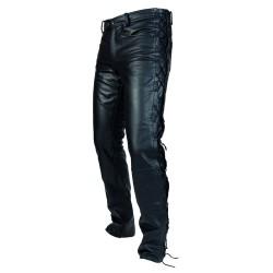 Spodnie skórzane OZONE HEAVY Black Sznur.
