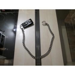 Zawieszka skórzana na klucze z łańcuchem Z1