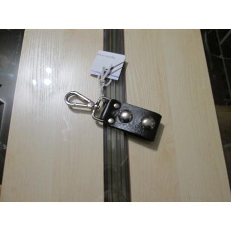 Zawieszka skórzana na klucze karabińczyk