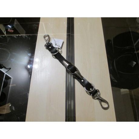 Zawieszka skórzana na klucze z karabińczykami do paska