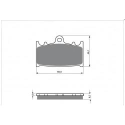 Klocki hamulcowe NHC Y2016 AK-150 (FA104)