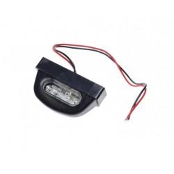 Lampka podświetlenia tablicy rej. LED 03 czarna tworzywo