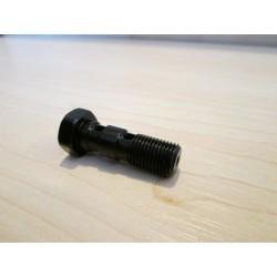 Śruba przewodu hamulcowego 2 otwory M10X1.00 czarna