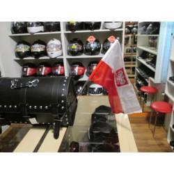 Maszt z uchwytem i flagą Polski