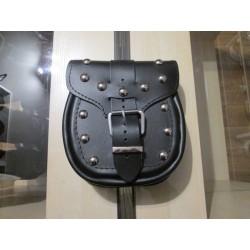 Kieszonka boczna kufrów skórzana SAKO ćwieki