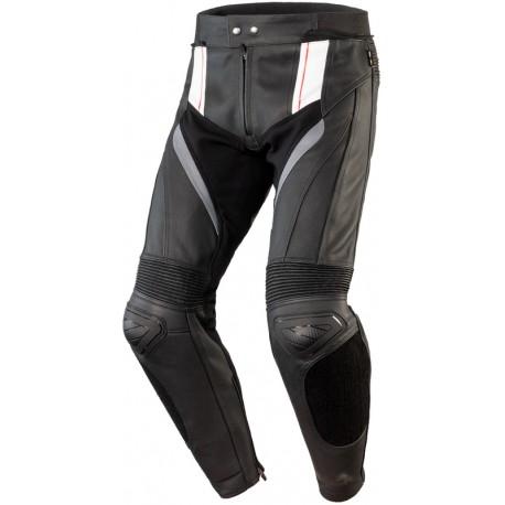 Spodnie skórzane OZONE VOLT Black/White
