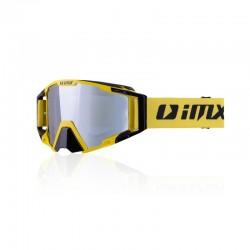 Gogle motocyklowe offroad IMX SAND yellow/black - szyba silver iridium